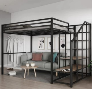 queen loft bed with sofa