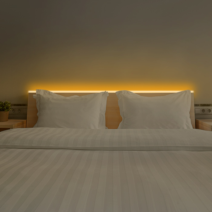 LED lighting is the most suitable for bedroom