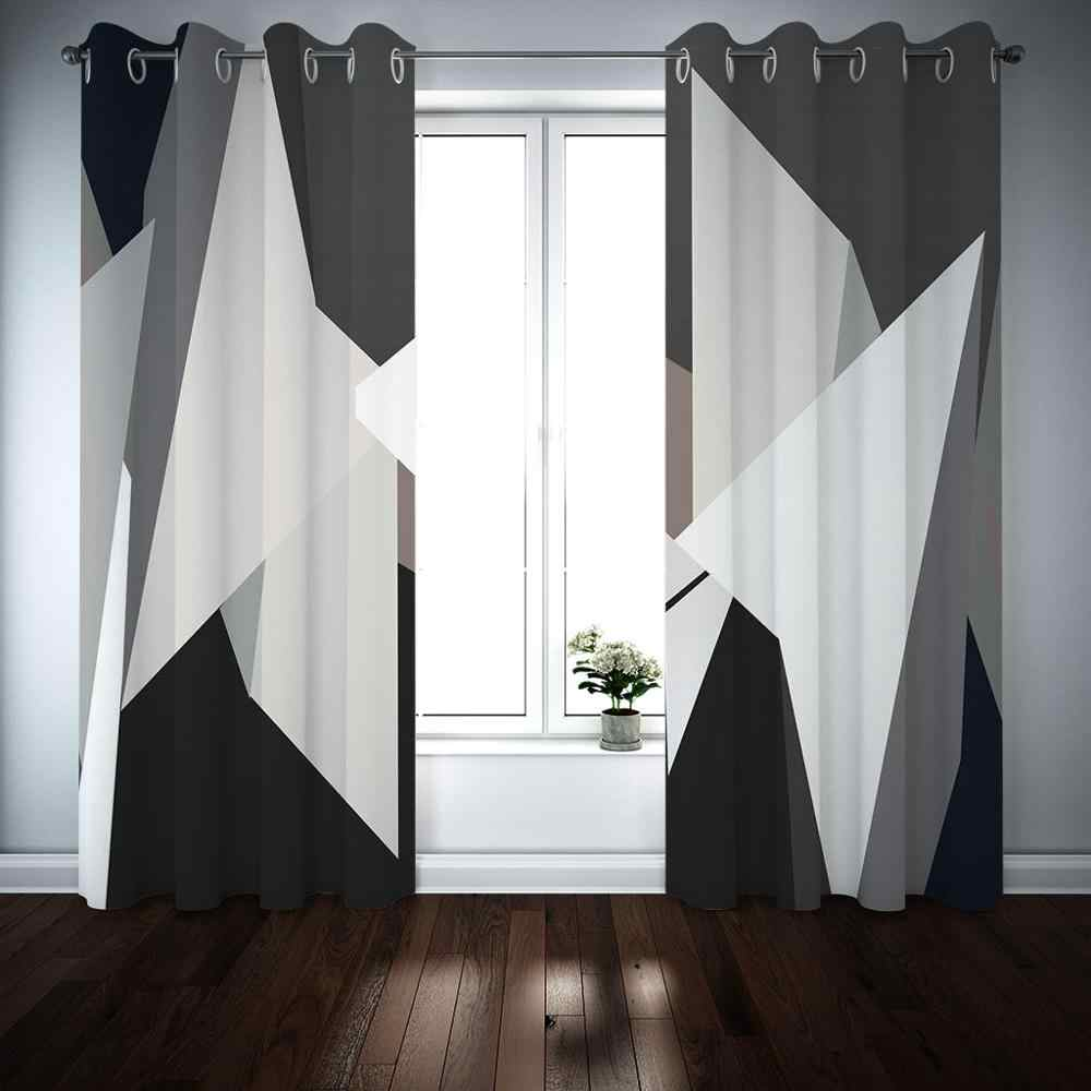an image of black and white curtain