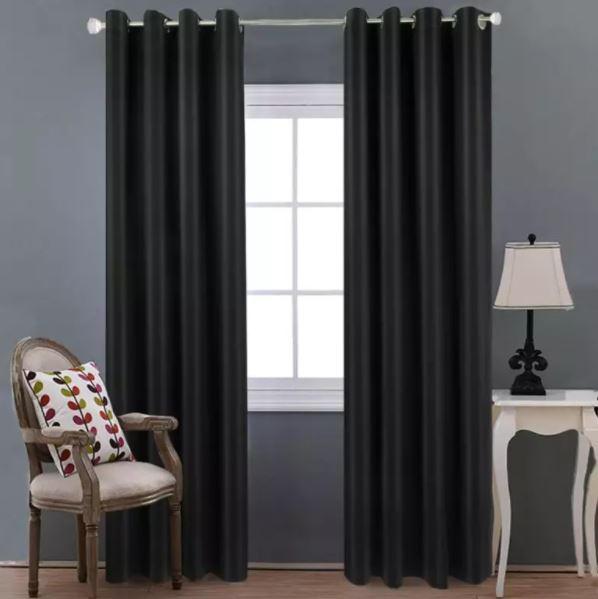 an image of black curtains that go with other colors