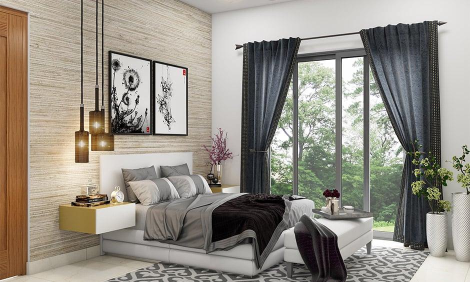 beautiful black curtains
