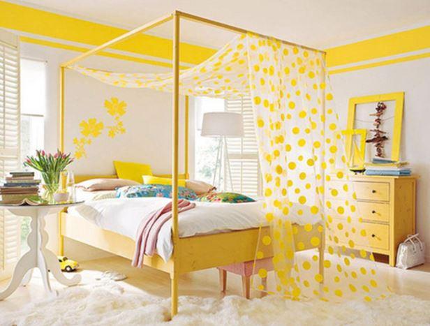 beautiful citrine yellow bedroom