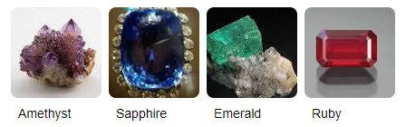 precious metals from which jewel tones are derived
