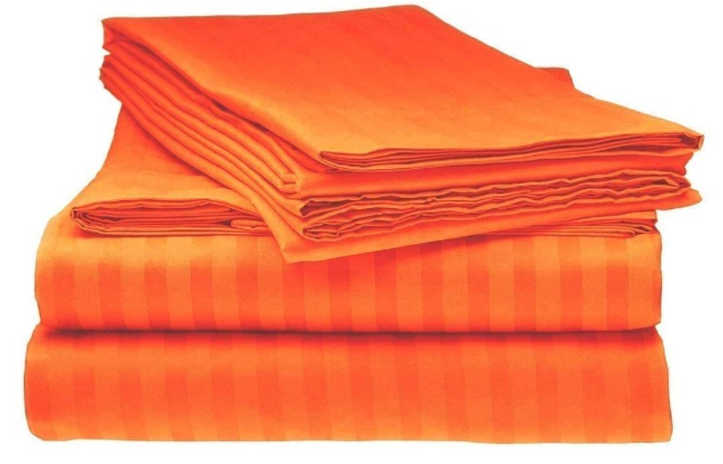 orange queen bed sheets