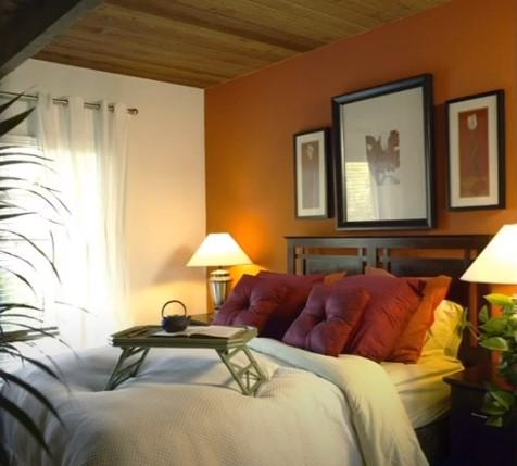 burnt orange bedroom wall ideas
