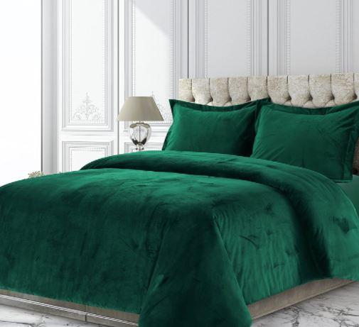 emerald green comforter king size