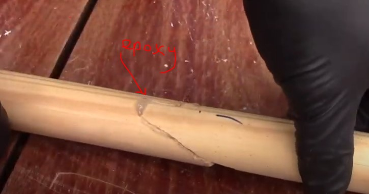 how to fix broken closet rod with wood glue epoxy quick setting
