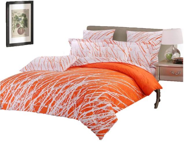orange king size duvet cover on Amazon