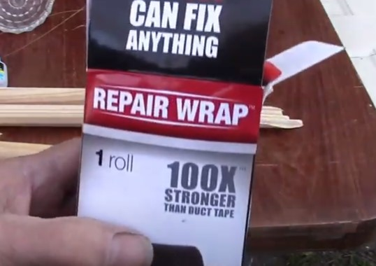 fix wooden closet rod using repair wrap