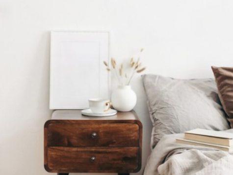 rustic nightstand