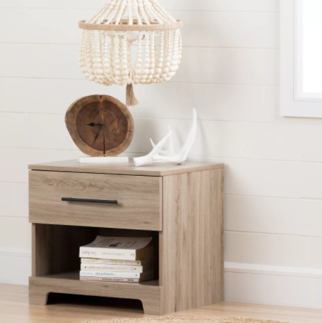 wooden rustic nightstand